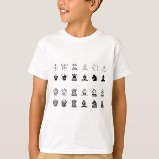 De symbolen van het schaak t shirt