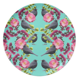 De symmetrische Blauwe Druk van de Vogel door Bord