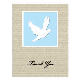 De Sympathie van de duif dankt u Briefkaart