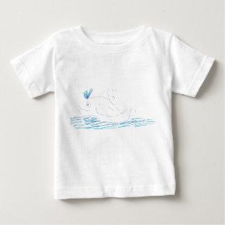De t-shirt van de Babys van Jersey van de Walvis
