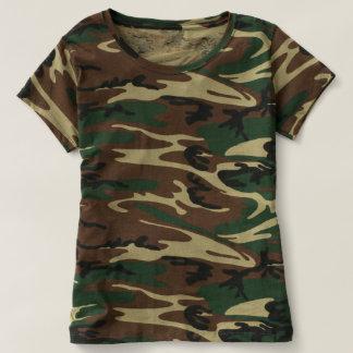 De T-shirt van de Camouflage van vrouwen