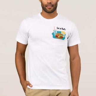 De T-shirt van de cheeseburger met Gebraden