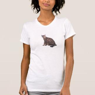 De T-shirt van de Druk van de Kat van Bengalen