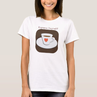 De T-shirt van de espresso zelf