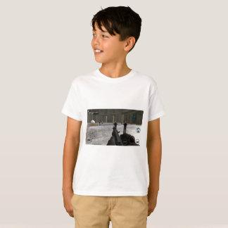 De T-shirt van de grafisch-Druk van de Aanval van