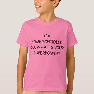 De T-shirt van de Grootmacht van Homeschooled