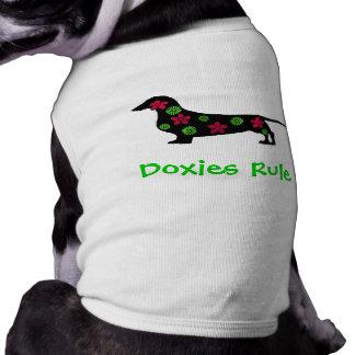 De T-shirt van de Hond van de Regel van Doxies Mouwloos Hondenshirt