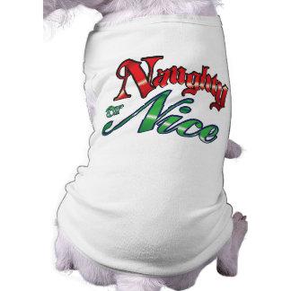 De t-shirt van de Hond van ongehoorzame of Kerstmi Mouwloos Hondenshirt