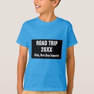 De T-shirt van de Jongen van de Reis van de Weg