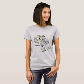 DE T-SHIRT VAN DE KAART VAN AFRIKA
