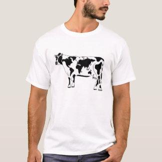 De T-shirt van de Kaart van de koe