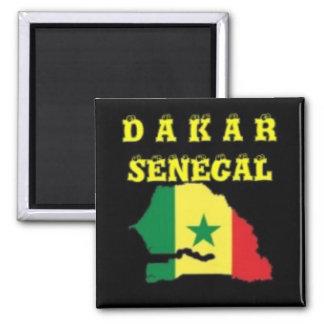 DE T-SHIRT VAN DE KAART VAN SENEGAL (DAKAR) EN ENZ MAGNEET