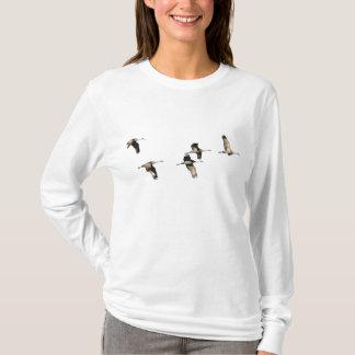 De T-shirt van de Kranen van Sandhill