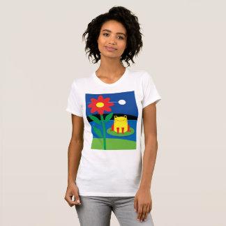 De T-shirt van de leuke Gele Vrouwen van de Kikker