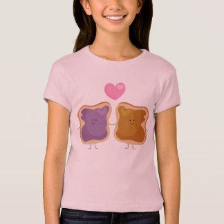 De T-shirt van de Liefde van de Pindakaas en van