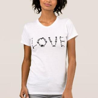 De T-shirt van de Liefde van het skelet