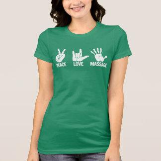 De T-shirt van de massage: De vrede, Liefde,