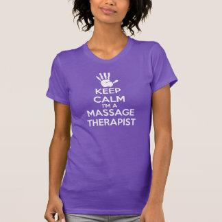 De T-shirt van de massage: Houd de Kalme,