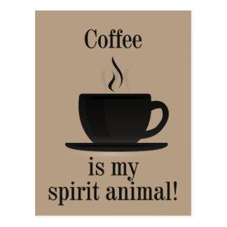 De T-shirt van de Minnaar van de koffie Briefkaart