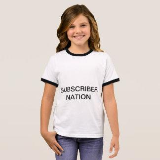 De T-shirt van de Natie van de Abonnee van de