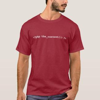 De T-shirt van de Ontwikkelaar van WordPress