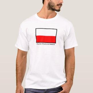 De T-shirt van de Opdracht van Polen Warshau LDS