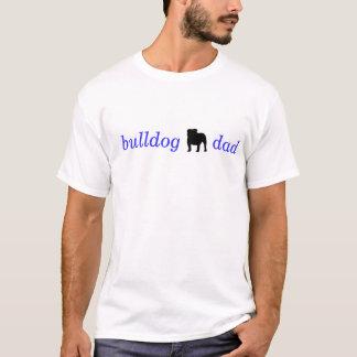 De T-shirt van de Papa van de buldog