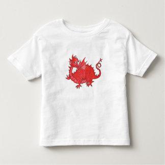De T-shirt van de peuter met Leuke Rode Draak