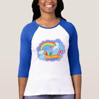 De t-shirt van de regenboog en van de eenhoorn