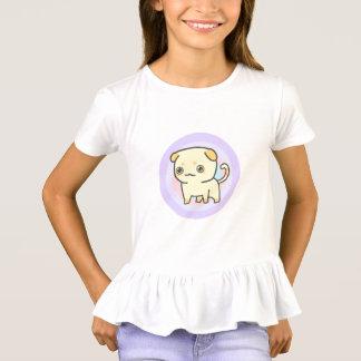 De T-shirt van de Ruche van de leuke Meisjes van