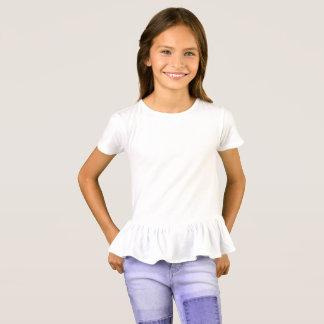 De T-shirt van de Ruche van meisjes