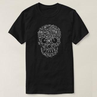 De T-shirt van de Schedel van de fiets