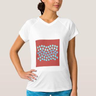 De T-shirt van de Sporten van de blauwe Vrouwen