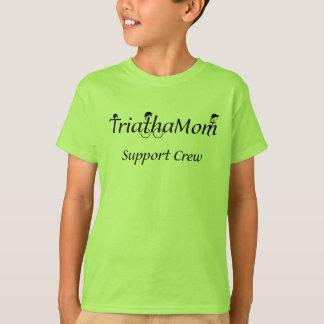 De T-shirt van de Steun van TriathaMom van het