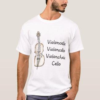 De T-shirt van de Taal van de cello