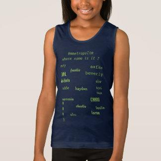 De T-shirt van de Tank van Jersey van meisjes,