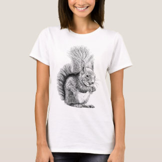De T-shirt van de Tekening van de eekhoorn
