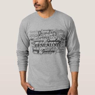 De T-shirt van de Tekst van de genealogie