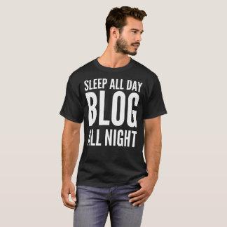 De T-shirt van de Typografie Blog van de slaap de
