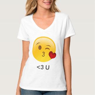 De t-shirt van de valentijnskaart van U Emoji van