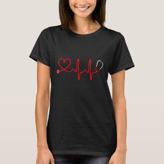 De T-shirt van de Verpleegster van het Hart van de