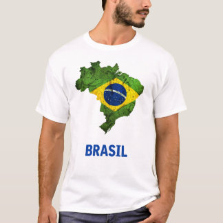 De t-shirt van de Vlag van Brazilië