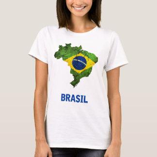 De t-shirt van de Vlag van Brazilië (dames)