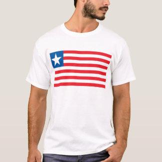 De T-shirt van de Vlag van Liberia