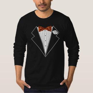 De T-shirt van de Vlinderdas van de Smoking van