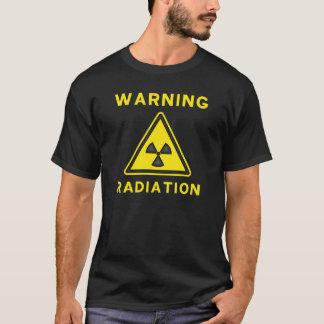 De T-shirt van de Waarschuwing van de straling