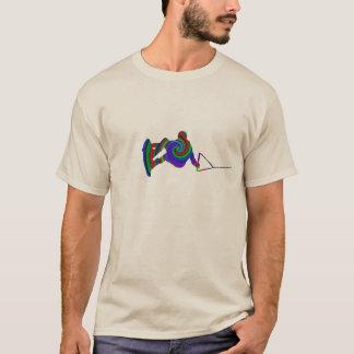 De T-shirt van de Werveling van de Kleur van