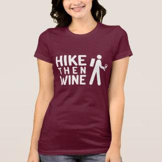 De T-shirt van de Wijn van de stijging toen (witte