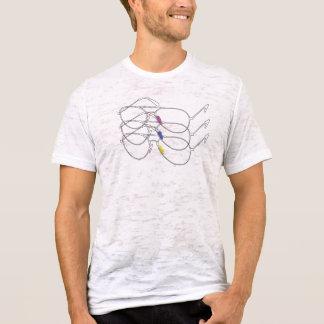 De T-shirt van de Zonnebril van de vliegenier