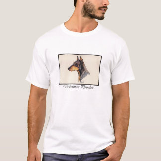 De T-shirt van Doberman Pinscher van de waterverf